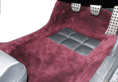 Front Pair Sheepskin Over Rugs - Mercedes SL (R230) 2 Seater From 2002 To 2011
